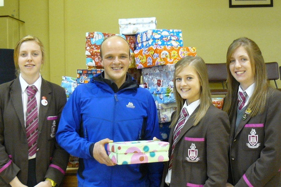 Charities Committee make a start with the Shoe Box Appeal