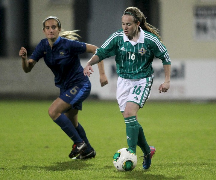 Football ace Samantha Kelly represents Northern Ireland at U17 level