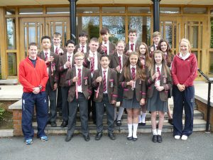 Medal winners with Mrs Robb and Mr McClintock