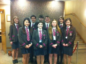 Year 13 Silver Award winners at the Award Ceremony in Craigavon Civic Centre