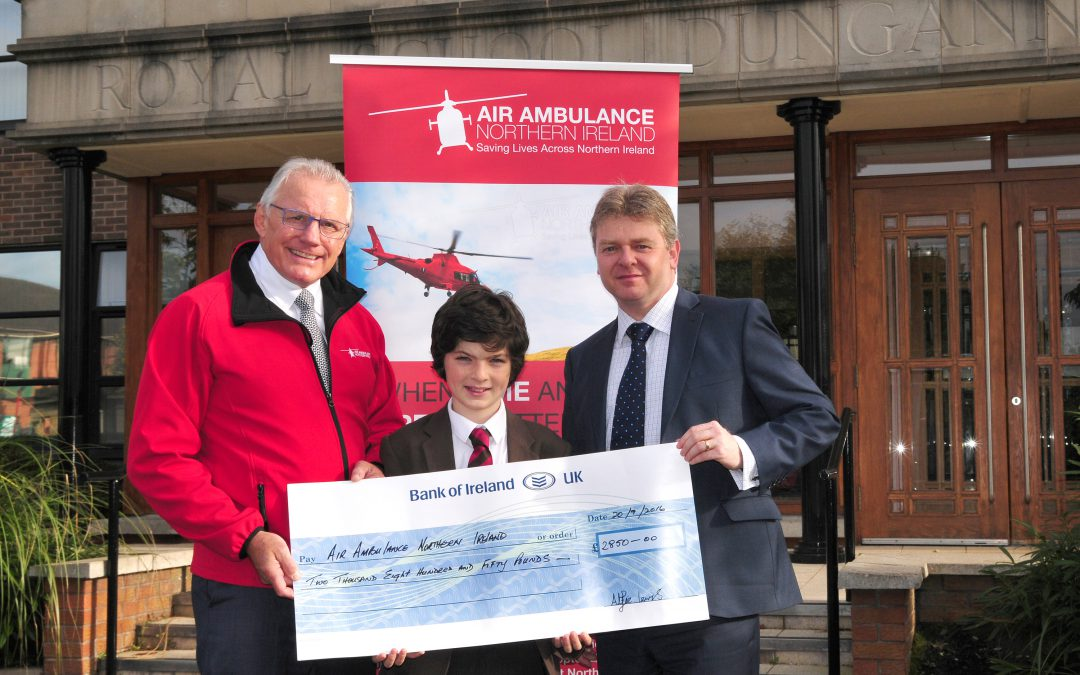 RSD's helicopter hero – Alfie Lewis (Year 8)