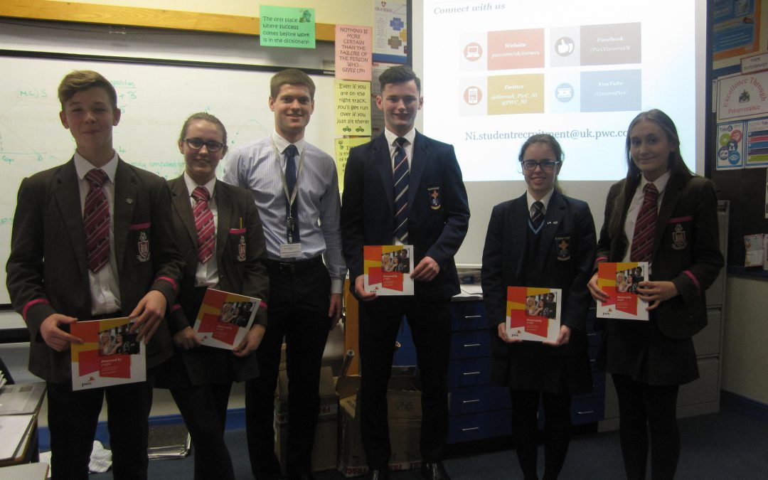 Past Pupil Gareth Parr visits Yr 13 & 14 to discuss Economics & life at PwC