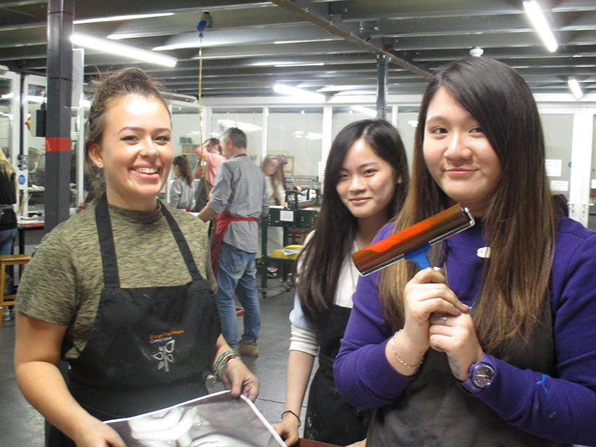 A Level Artists attend Seacourt Print Workshop