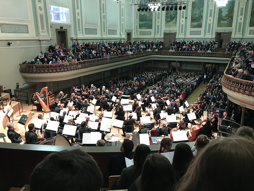 Music students enjoy a 'Festive Box of Delights' from the Ulster Orchestra
