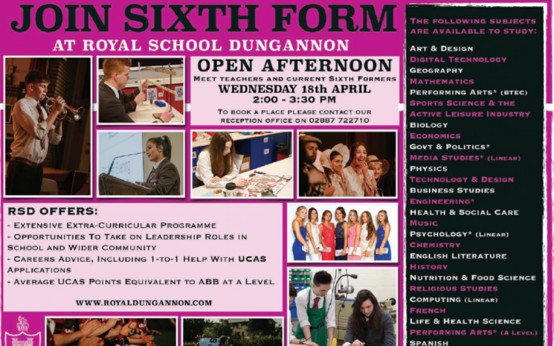 Join Sixth Form at RSD!