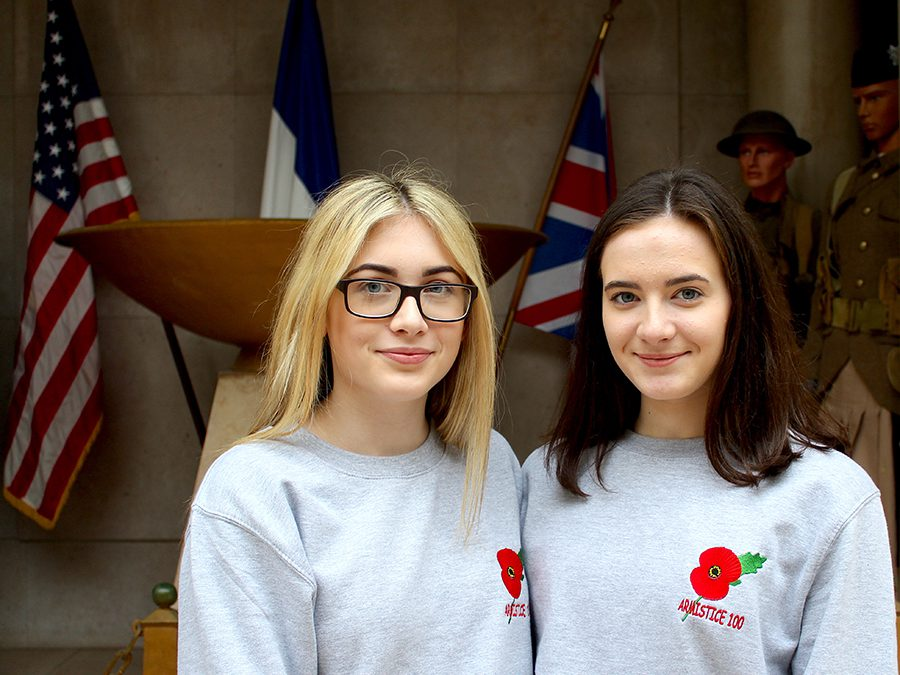 WW1 Battlefields tour for Dungannon Cadets, Hollie and Sarah