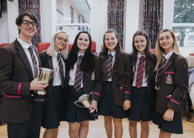 14. Year 14 students Matthew Winning, Lauren Hudson, Hannah Weir, Lucy Steenson, Bethany Matthews and Kerri McMullan