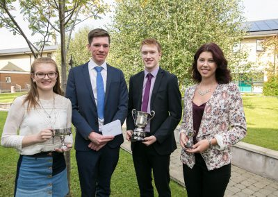 Leavers - Joanna Little, Jonathan Gilmour, Mark Johnston and Evelina Grydziusko RSD Prize Day 2016-256
