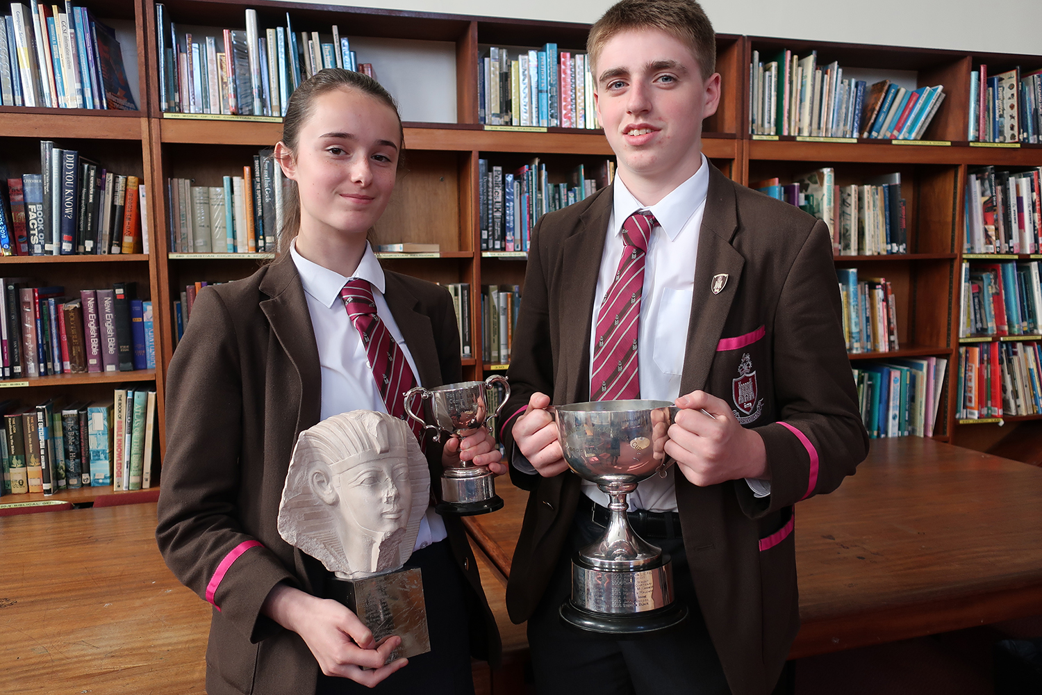 Hollie Magowan (Year 11) and Adam McNally (Year 12)
