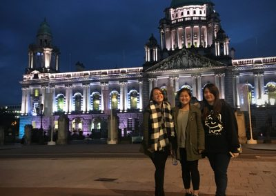 Rebecca, Angie and Cammy at Belfast City Hall