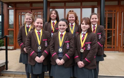 U13 Girls' Table Tennis team wins Ulster Schools Team Championships