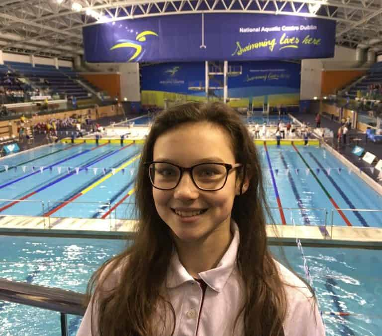 Emma competes in Irish Minor Schools Swimming Championship