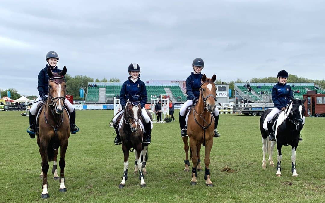 Show Jumping Team celebrate win at Balmoral Show
