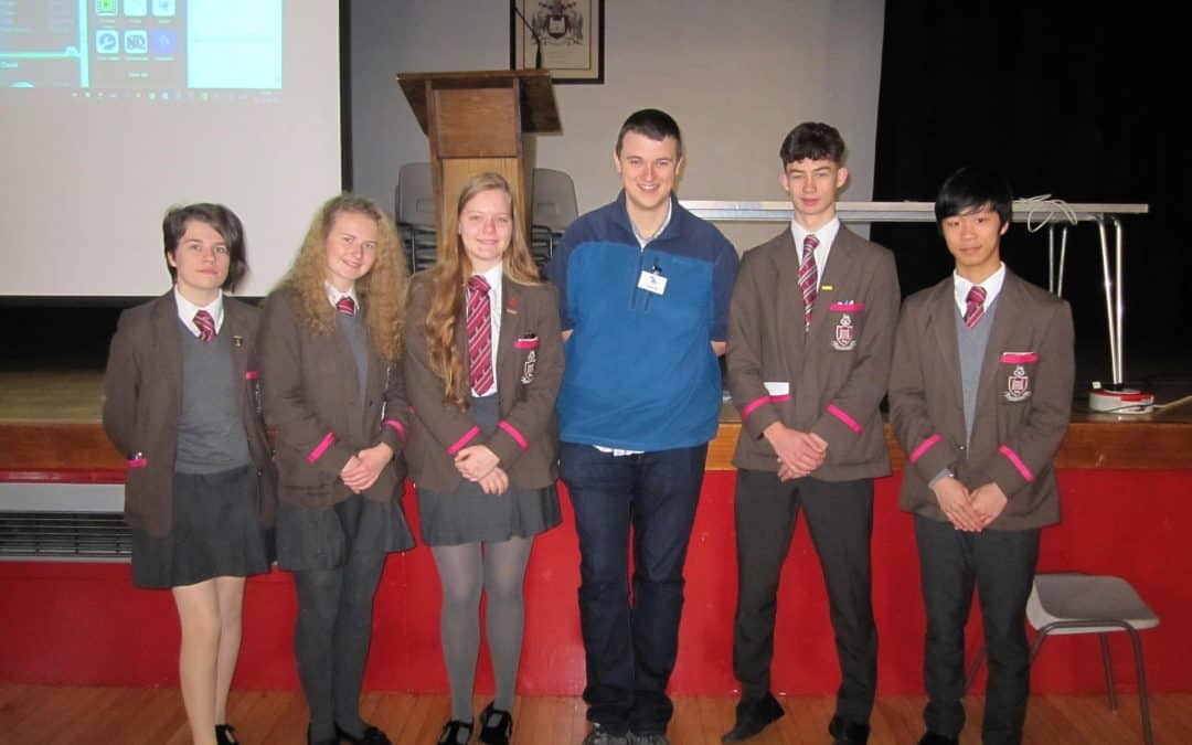 A Level Physics pupils meet particle Physicist