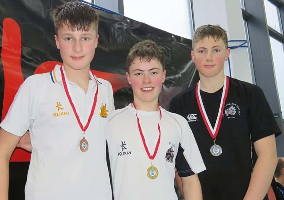 Gold and bronze for Matthew at the Ulster Schools' Swimming Gala