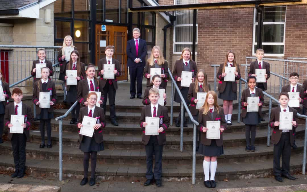Presentation of Junior Academic Award certificates