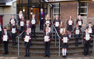 Presentation of Junior Academic Award certificates