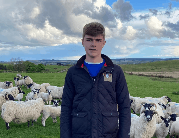 Matthew wins a place on Ulster Wool's Training and Development programme