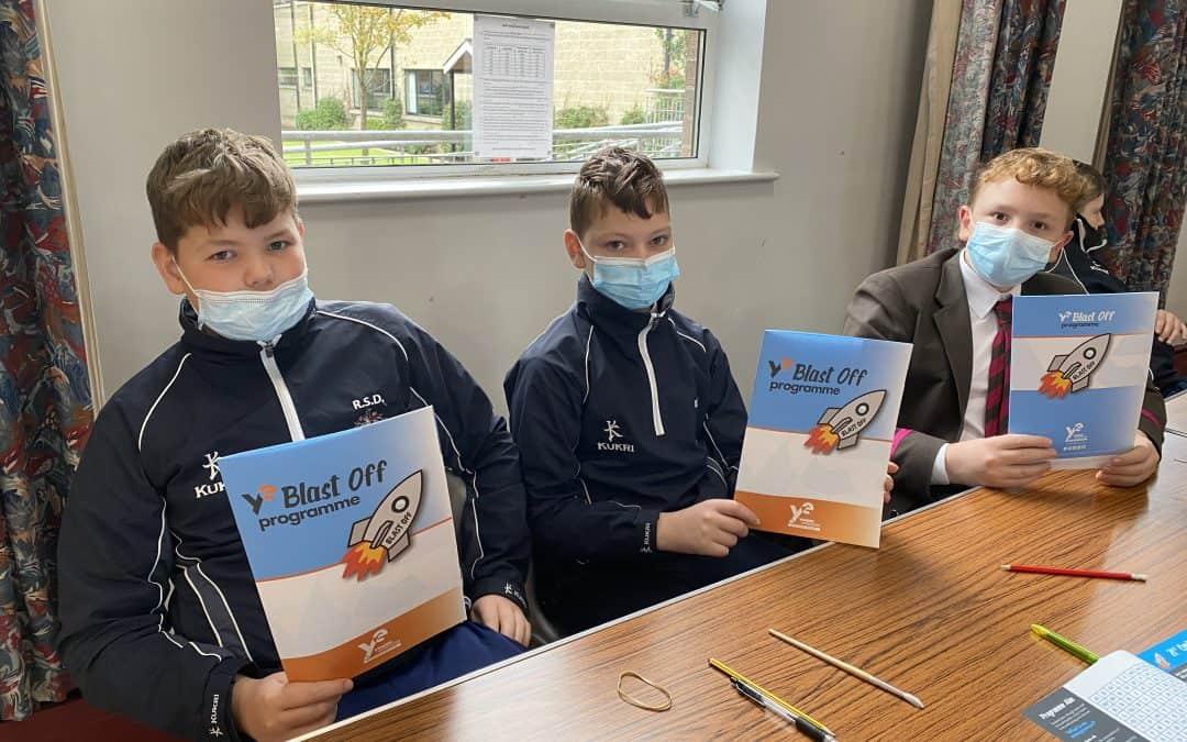 Year 9 pupils in Blast Off workshop